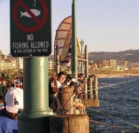 No! ...fishing allowed!
