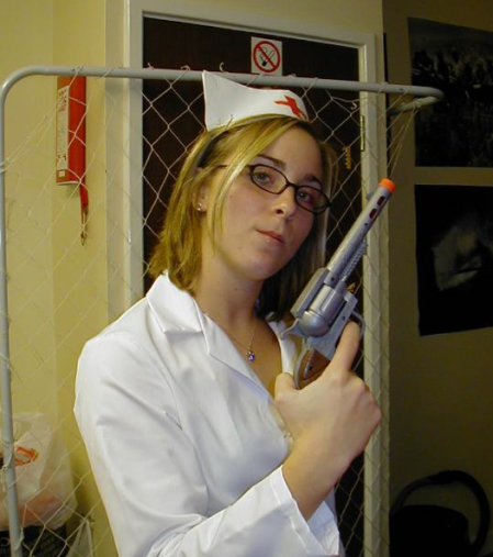 Nurse with Gun